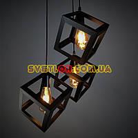 Люстра подвесная на три лампы в стиле лофт YS-TY001-A/3 BK