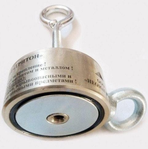 Поисковый магнит ТРИТОН 2F300 кг двухсторонний неодимовый