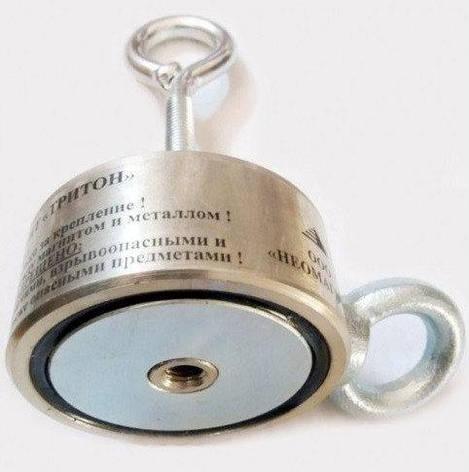 Поисковый магнит ТРИТОН 2F300 кг двухсторонний неодимовый, фото 2