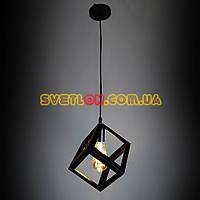 Люстра подвесная на одну лампу в стиле лофт YS-TY001-A BK