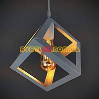 Люстра подвесная на одну лампу в стиле лофт 001-A WT