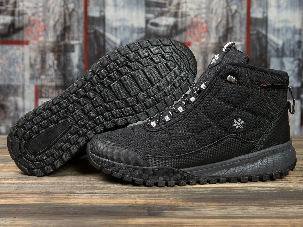 Зимние кроссовки  на меху Supo Sport, черные (30972) размеры в наличии ► [  (последняя пара)  ]