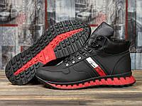 Зимние ботинки  на меху Tommy Hilfiger Tech Motion, черные (31031) размеры в наличии ► [  41 42 43 44 45  ]