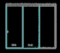 SSGA-4 Раздвижная дверь из стекла - Стеклянная раздвижная перегородка
