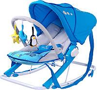 Кресло-шезлонг Caretero Aqua Blue, фото 1