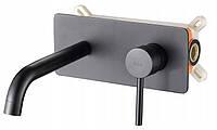 Смеситель скрытого монтажа для умывальника (раковины) VIVA BLACK Черный матовый