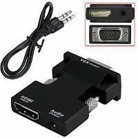 Конвертер с HDMI на VGA OUT Black (6737)
