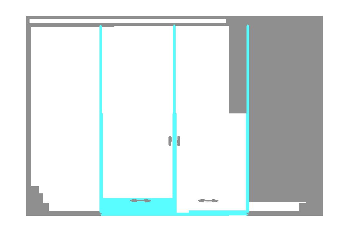 SSGA-6 Раздвижная дверь из стекла - Стеклянная раздвижная перегородка