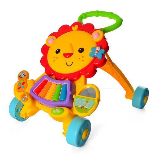Интерактивная каталка-ходунки 869-52 игрушка лев музыкальный