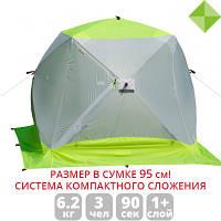 Палатка зимняя  Лотос Куб 3 Компакт ЭКО с системой компактного сложения