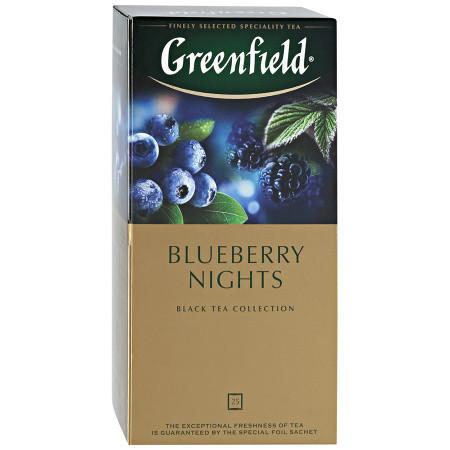 Чай пакетированный Greenfield Blueberry Nights 25 х 1.5г