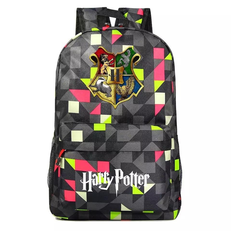 Рюкзак Гарри Поттер Хогвартс с гербом факультетов Hufflepuff граффити с красным LGCPY(AV218)