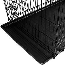 Металлическая клетка переноска для собак Dog carrier L, фото 3