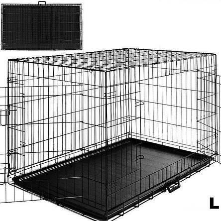 Металлическая клетка переноска для собак Dog carrier L, фото 2