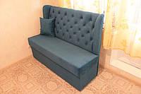 Небольшой кухонный диванчик с ящиком (Голубой)