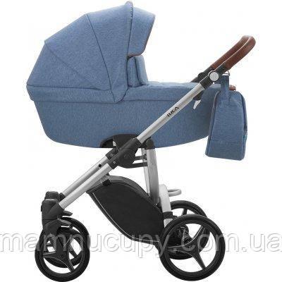 Детская универсальная коляска 2 в 1 Bebetto Luca (13) Синий / Серая рама