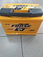 Аккумулятор  FORSE 74Ah, R, EN 720, ISTA(Форсе Иста) автомобильный. Работаем с НДС