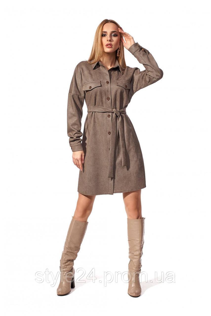 ЖІноче шикарне гіпюрове замшеве плаття на гудзики, 2 кольори . Р-ри  42-50