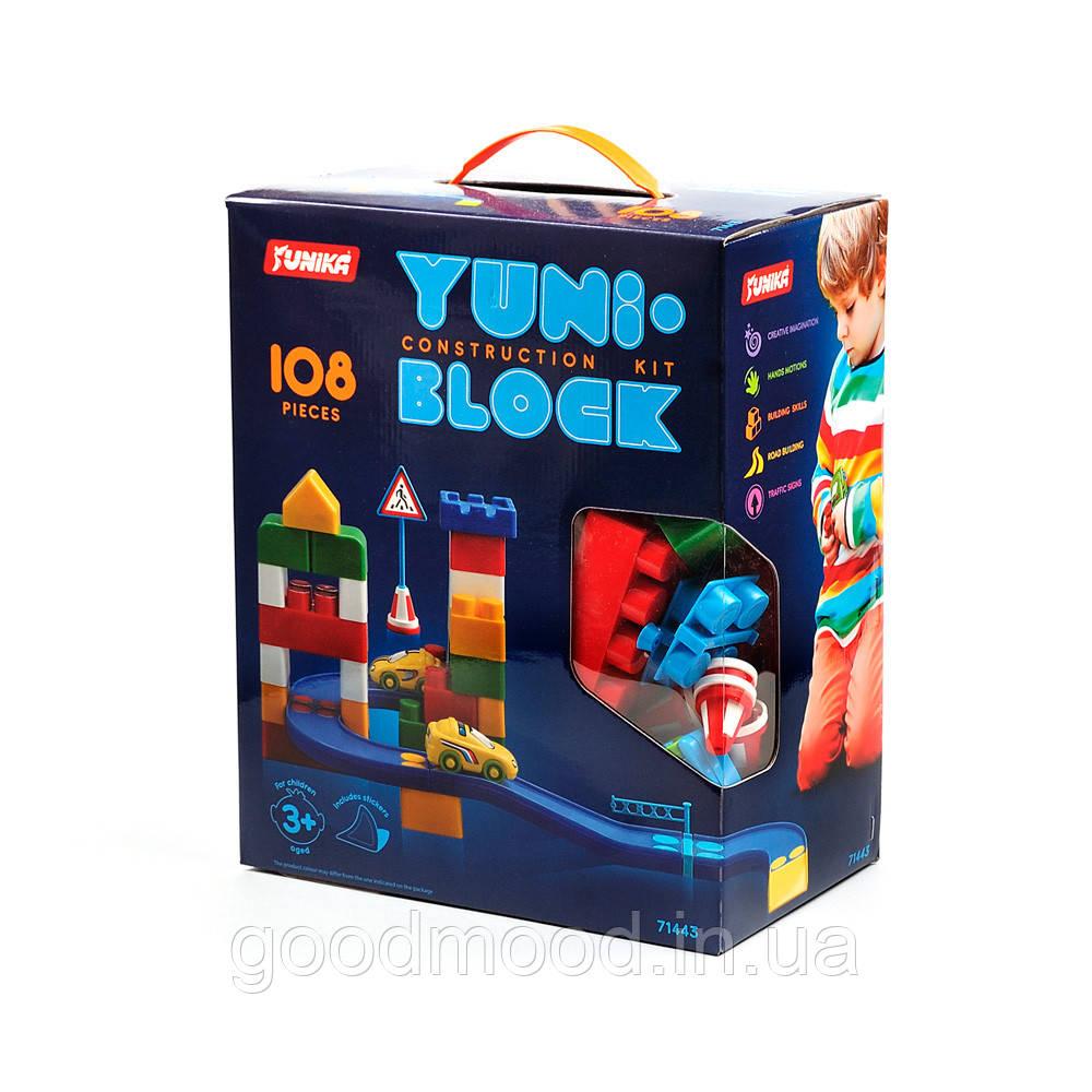 """Конструктор дитячий """"YUNI-BLOK"""" 108 (коробка)"""