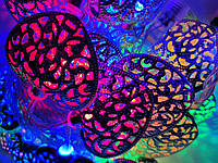 Светодиодная гирлянда сердечки 2 метра на батарейках многоцветный, фото 1