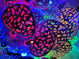 Светодиодная гирлянда сердечки 2 метра на батарейках многоцветный  ПОД СТАРИНУ ECOLEND