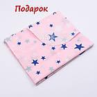 Плед и подушка со звёздами серо-розового цвета., фото 5
