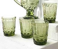 "Набор 6 стаканов ""Винтаж"" зеленый 300 мл, 34215-14-4"