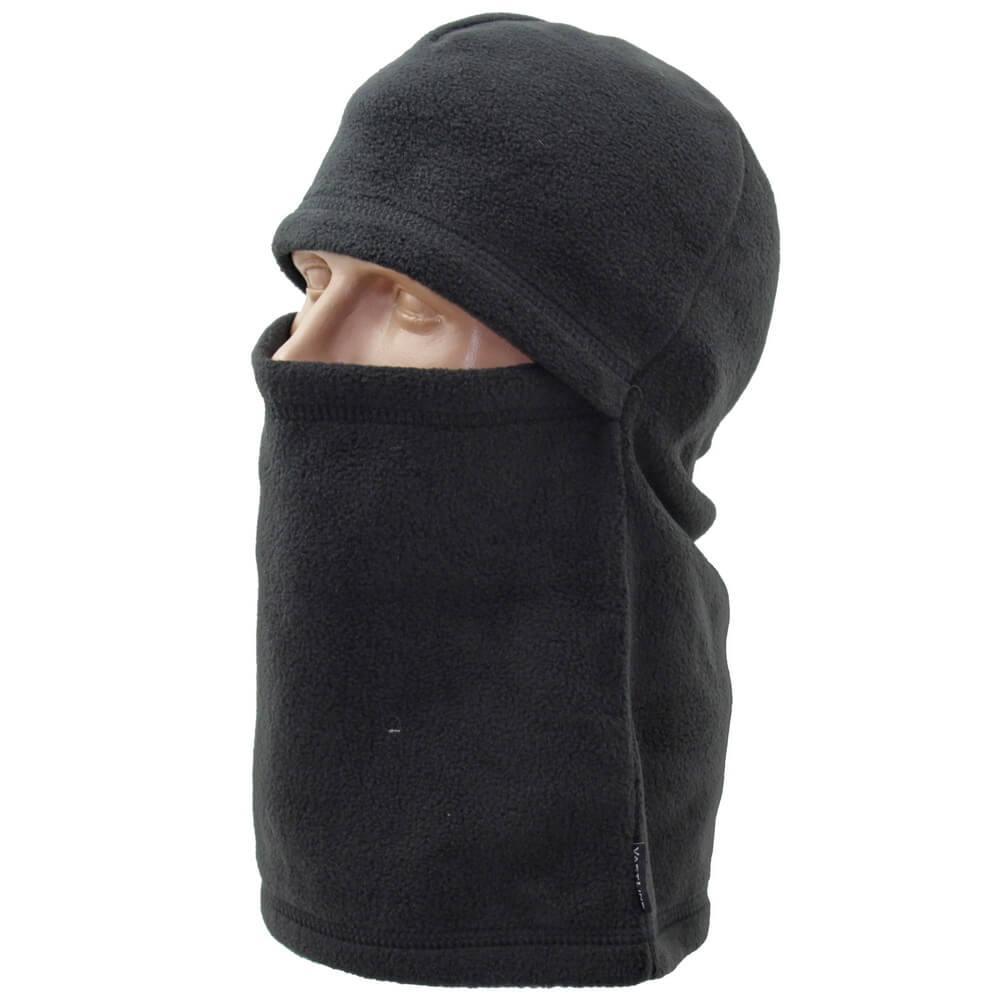 Балаклава шарф черная флис