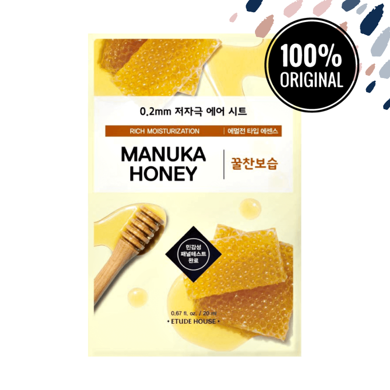 Ультратонка маска для обличчя з медом ETUDE HOUSE 0.2 mm Therapy Air Mask Manuka Honey