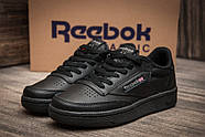 Кроссовки женские 11091, Reebok Club C, черные ( 36  ), фото 3