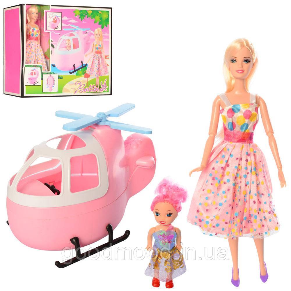 Лялька 68126 шарнірна, донька, гелікоптер (розібр.), кор., 38-33-12 см.