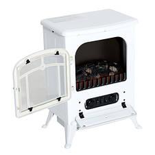 Электрокамин Сountry White c огнеупорным стеклом и регулировкой эффекта огня, фото 3