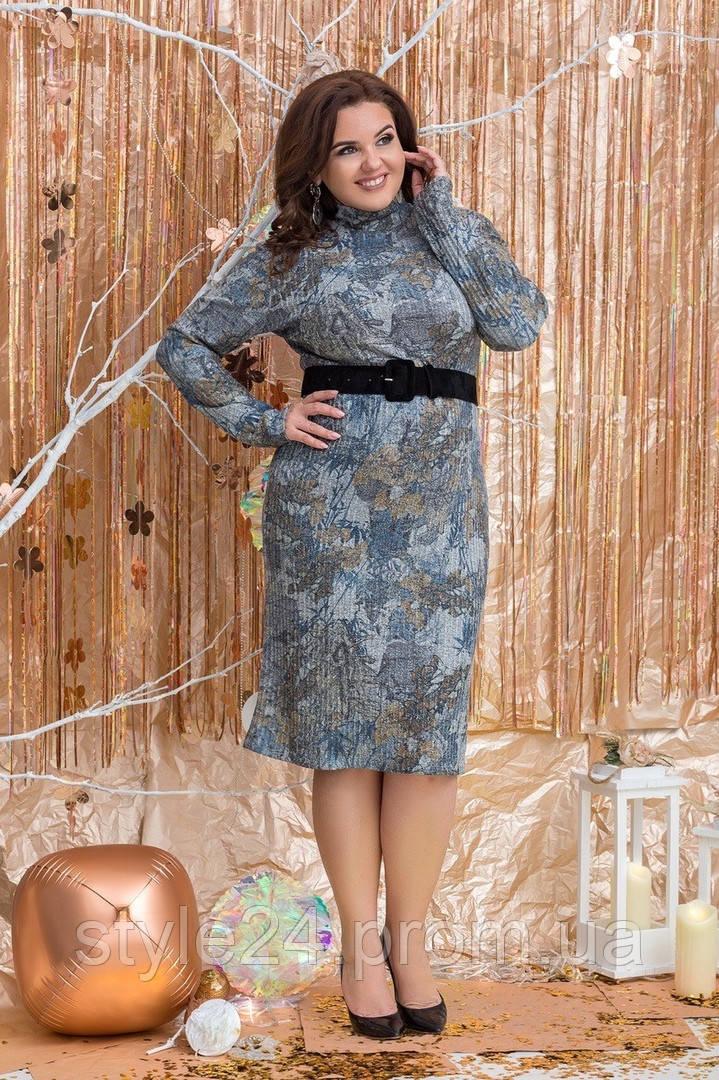 Батальне тепле плаття  з поясом.Р-ри 48-54