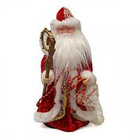 Фигурка под елку Музыкальный Дед Мороз Двигается Большой 40см DED MOROZ