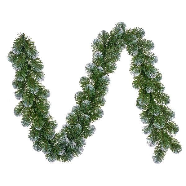 Гирлянда 270 см. декоративная Norton зеленая с инеем, Black Box Trees®