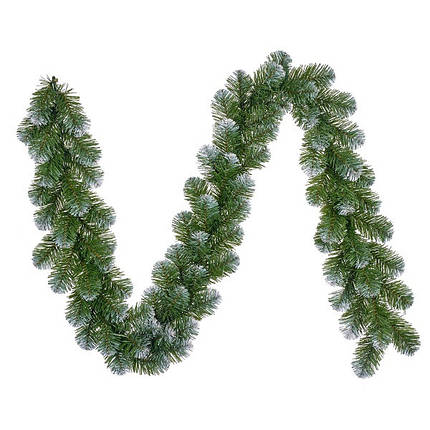 Гирлянда 270 см. декоративная Norton зеленая с инеем, Black Box Trees®, фото 2