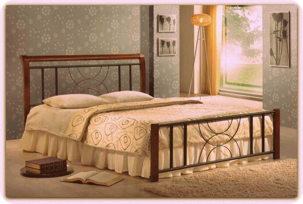 Кровать Кэлли 140 х 200 каштан  (Domini TM)