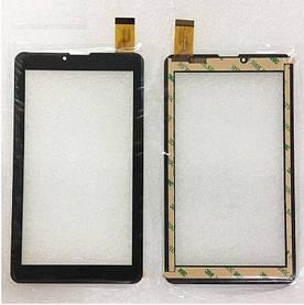 """Сенсор (Тачскрин) для планшета 7"""" Pixus Play Three v2.0 (Тип 2) 30 pin (184x104) толщина 1мм (Черный)"""