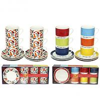 Сервиз кофейный 12 предметов Акварель SNT 022-12-20