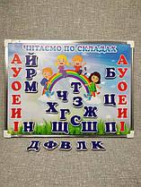 Магнитный набор Читаем по слогам