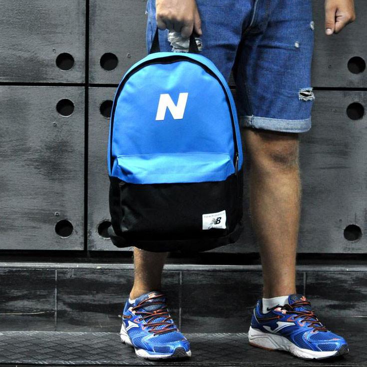 Рюкзак New Balance, Нью Бэланс. Голубой с черным.