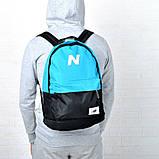 Рюкзак New Balance, Нью Бэланс. Голубой с черным., фото 2