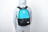 Рюкзак New Balance, Нью Бэланс. Голубой с черным., фото 4