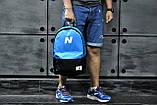 Рюкзак New Balance, Нью Бэланс. Голубой с черным., фото 5