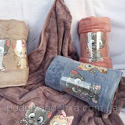 Рушник для обличчя Котики (50х90)👍