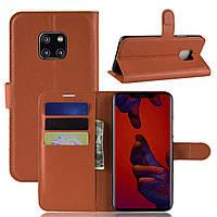 Чехол-книжка Litchie Wallet для Huawei Mate 20 Pro Коричневый