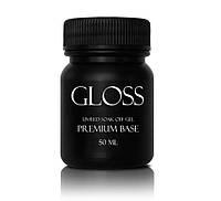 Gloss Premium Base – каучуковое базовое покрытие для гель-лака, 50мл