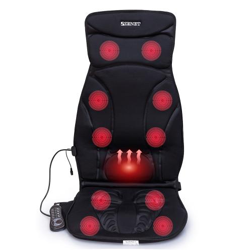 Автомобильная массажная накидка Zenet ZET-814 с прогревом вибрационная