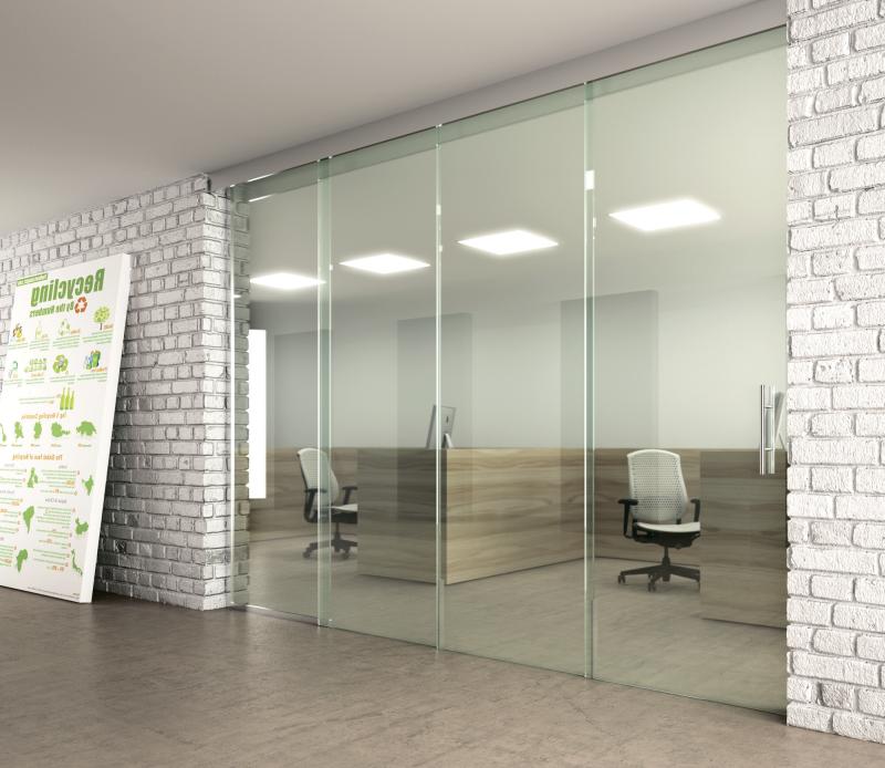 25 Зонирование офиса раздвижной перегородкой из стекла - Стеклянная раздвижная перегородка в офис