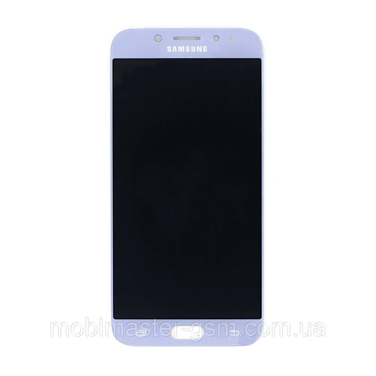 Дисплейный модуль Samsung J7 2017 J730F blue